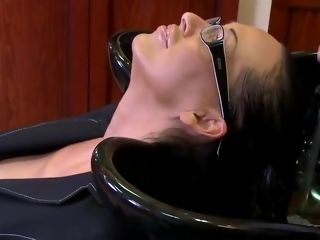 Mandy Bright plowed by a hairdresser