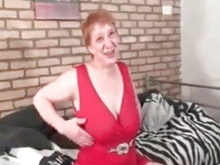 Big-boobed grandma unable to fight back playing