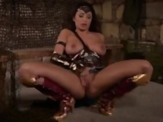 """Superhero getting off displays Anissa Kate finger tear up her clean-shaven wet pussy"""