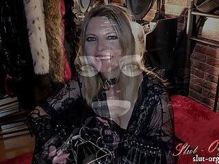 Slut-Orgasma Celeste – my fresh oral teaching gag