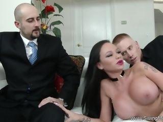 Cheating fuck-fest For Swinger wife To sense Arousement Deeply