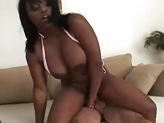 Rough sesh For big-chested ebony cougar