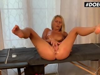 'DOEGIRLS - CLAUDIA MACC gigantic butt CZECH cougar frigs AND milks WITH HER TOYS ON rubdown TABLE'