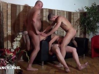 Stunning 40 Yo Belgian milf Gets group sex