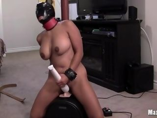 'Kinky hefty breasted chinese milf Maxine X rails Robot Dick And deepthroats beef whistle!'