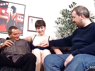 Nasty senior German Couple's first-ever Threesome with Stranger