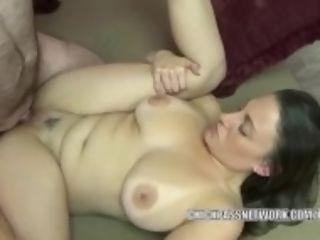 """Busty dark haired Melanie Hicks is getting her vulva stuffed"""
