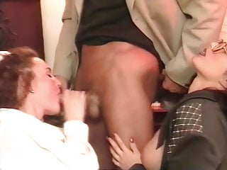 Piano and threesome lesson with Erika Bella, upscaled to 4K