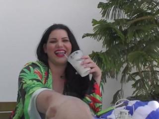 'Curvy Latina Angelina Castro enjoys Finger nailing Herself And fellating manhood!'
