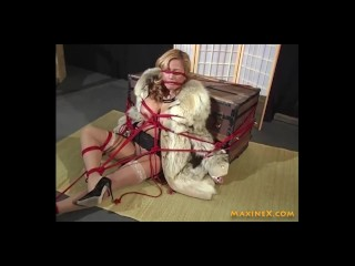 'Secret dungeon space tear up guest room! TiedUp bootylicious milf MaxineX Creams With Hitachi!'