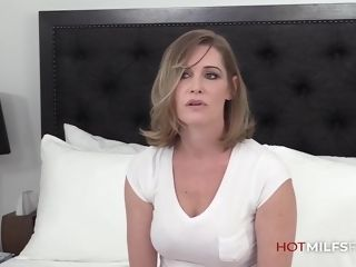 Red-hot cougar Jessie James first-ever pummel audition Getting A hefty prick And facial cumsred-hot Cusmred-hot