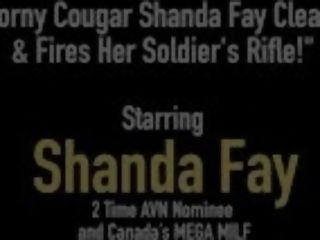 """""""Horny milf Shanda Fay Cleans & Fires Her Soldier's Rifle!"""""""