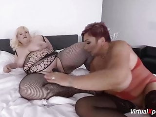 Extraordinary mature lesbo plus-size bang-out