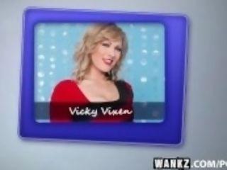 """""""WANKZ- horny cougar Vicky Vixen deepthroats And Fucks"""""""