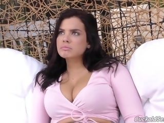 Keisha's big black cock sesh In Front Of Her stud