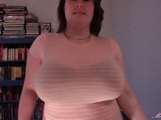 Massive melons, breast droplet, sheer t-shirt