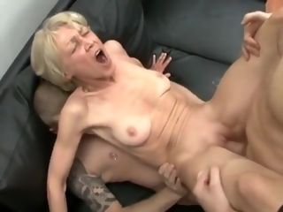 Insane fledgling movie with shaven, grandmothers sequences