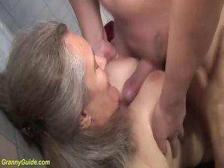 Nasty big-titted 83 years elderly mommy rough penetrated