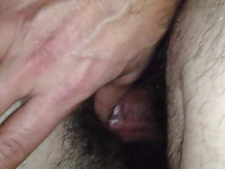 Banging and nutting on my wife's fur covered snatch