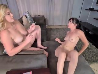 Chainsmoking lesbos Having glamour joy
