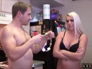 Big-Breasted towheaded housewife Gets ravaged And Facialized In The Kitchen