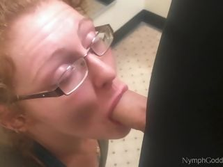 Red-haired cougar Ivy bj's spouse off in a Public switching bedroom CIM