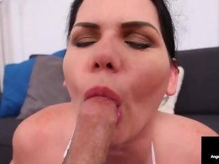 'Curvy Cleaning dame Angelina Castro jacks Her manager With outstanding suck off!'