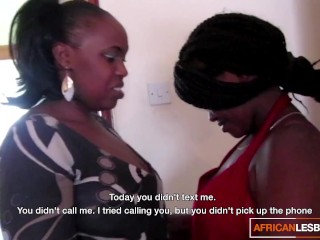 'African sapphic bi-otches drilling in the shower'