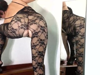 Youthful wifey puts on glorious underwear. She wants to be the most glorious housekeeper. 2
