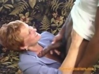 """Interracial gang-fuck with a naughty grandma Part 1"""