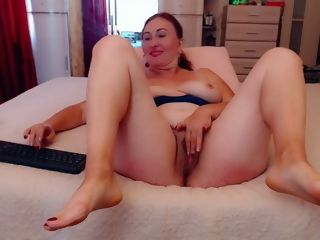 Furry vagina, stretching gams, crazy cougar wants your hard-on inwards