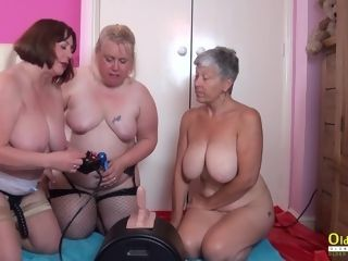 OldNannY 3 brit Matures and hook-up Machine
