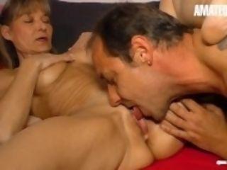 """AmateurEuro - Mature German housewife blows a load rock-hard On Neighbor's Cock"""