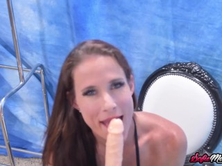 Kinky cougar Sofie Marie Uses immense faux-cock On Tight Wet vulva