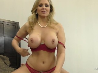'Handjob, breast banging, feetjob And More With big-boobed blond Julia Ann In point of view!'