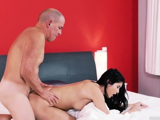 Blowage through pants displaying her gorgeous caboose in he