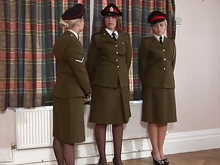 Disciplined military woman