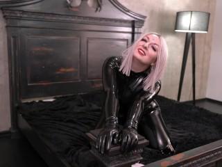 Steaming Fetish Model Arya Grander In dark-hued spandex Catsuit and Over Knee footwear Teasing You Fetisch Topless