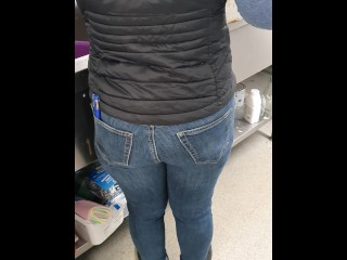 Step mother pulverized through ripped denim by step stepson in the kitchen