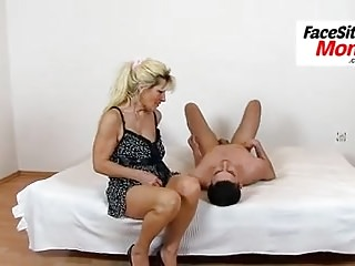 Mature muff eating with european mother Marta