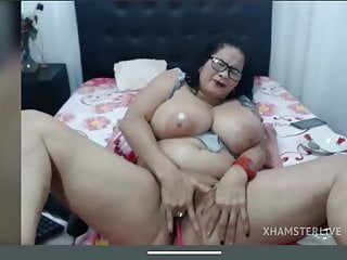 Grubby mature monster melons finger-banging gash spraying