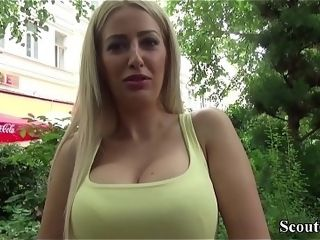 German Scout - Hot MILF Blanche jolly along around be crazy foreigner driveway