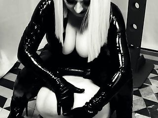 Facefucking, face-sitting and ass-fuck have fun, female domination home vid