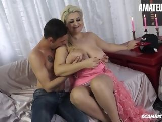 AMATEUREURO - Italian round cougar Has a Thing For youthful dudes