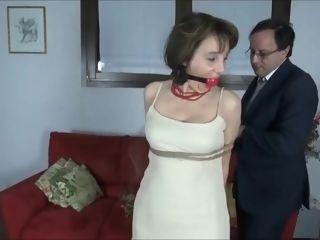 Mature Italian gal restrain bondage pornography vid