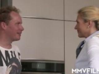 """Stewardess comes home to fuck"""