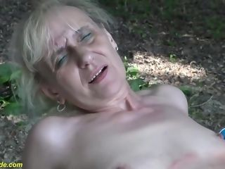 Old, Hungarian female Is deepthroating And railing A hard dinky In The Nature, And luving It