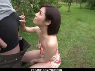 Intense bj in outdoor by super-cute Mami Masaki - More at Slurpjp com