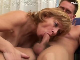 Grandma gets her fur covered cooter drilled deep