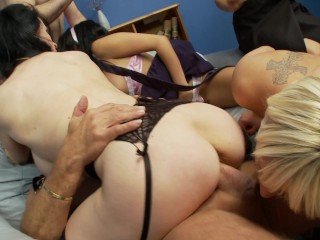 Only3x introduces - Louise Jenson in gang orgy - Nylons/Pantyhose gig - TRAILER - by Only3x